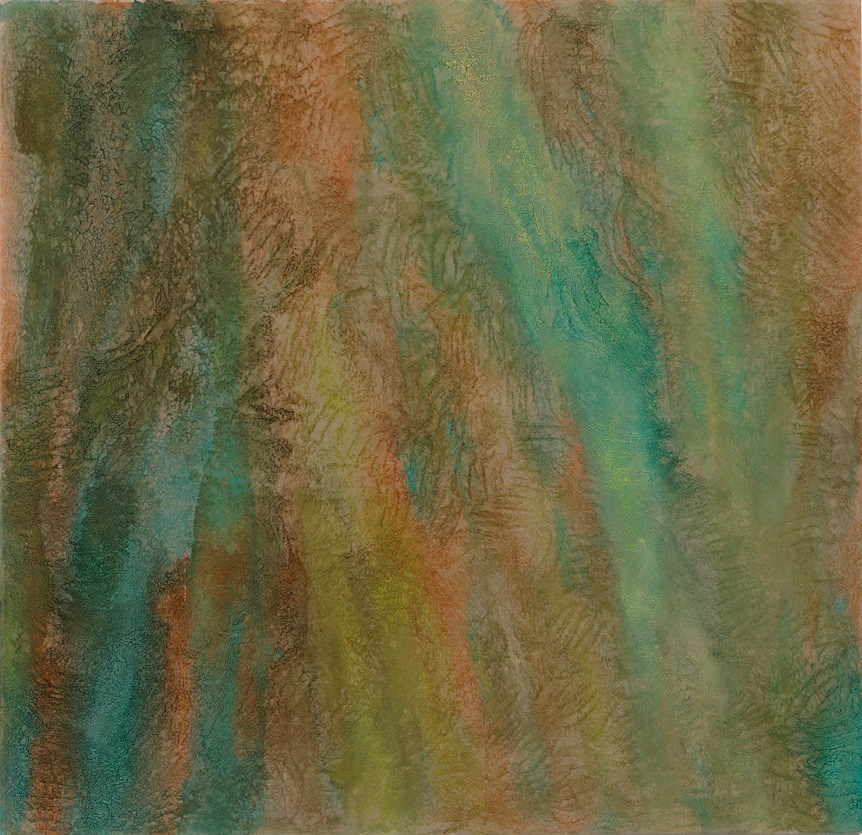 Cora Cohen, Curtain7, 2013, acrylic mediums, flashe, pigment on linen, 59 x 61 i