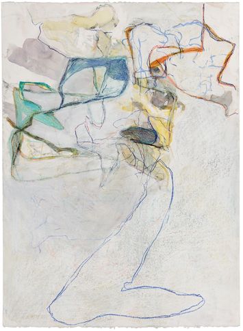 Cora Cohen, 08-15, 2015, crayon, pastel, pencil, watercolor on paper, 30 x 22 inches (courtesy of the artist)