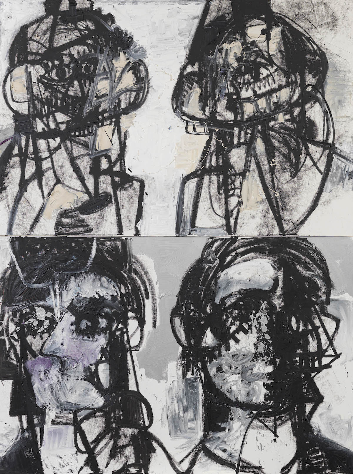 George Condo, Self Portraits Facing Cancer 1, 2015 (courtesy of Spruth Magers)