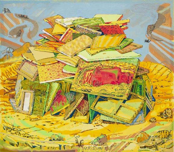 Dennis Congdon, Visuvi, 2013, flashe and enamel on canvas, 94 × 107 inches (phot
