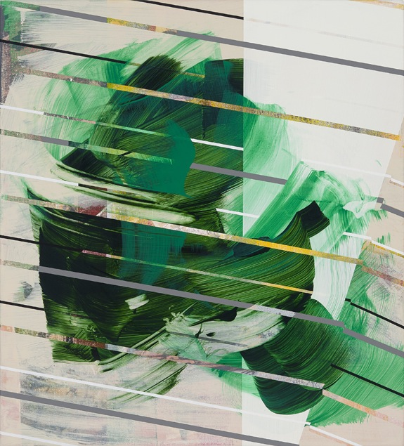 Vince Contarino, Fertile Green, 2012, acrylic on canvas, 20 x 18 inches (courtes