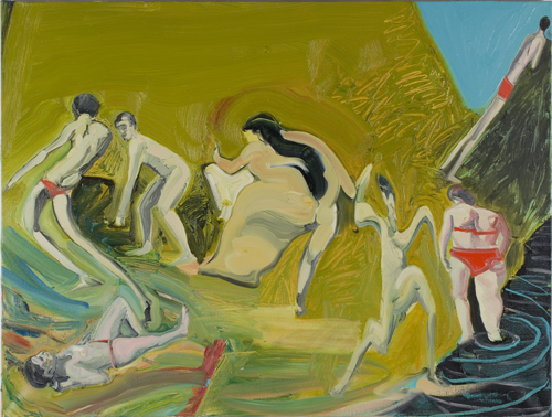 Daniel Coombs, The Beach, 2013, oil on canvas, 100 x 75 cm (© and courtesy of th