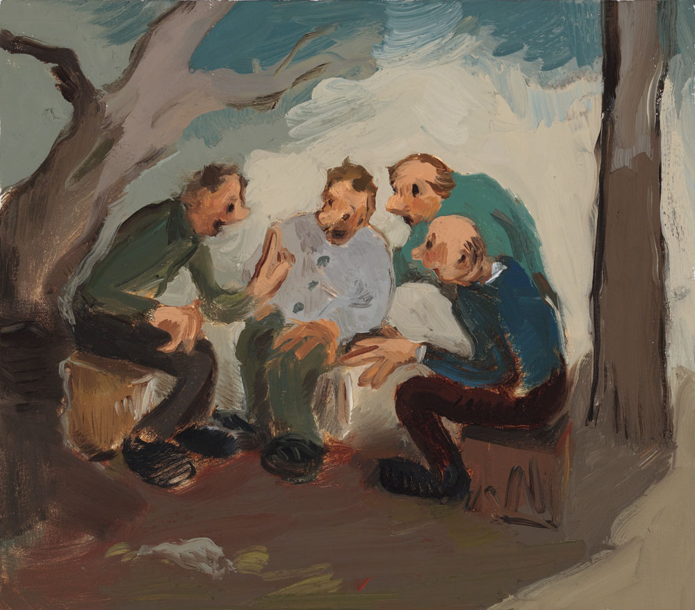Jane Corrigan, The Story Teller, 2013, oil on canvas, 14 x 16 inches (courtesy o