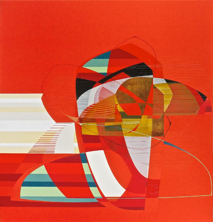 Alex Couwenberg, St. James, 2013, acrylic on canvas, 48 x 46 inches (courtesy of