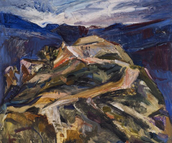 Jane Culp, Swimming: Toward Raven's Nest Peak  (courtesy of the artist)