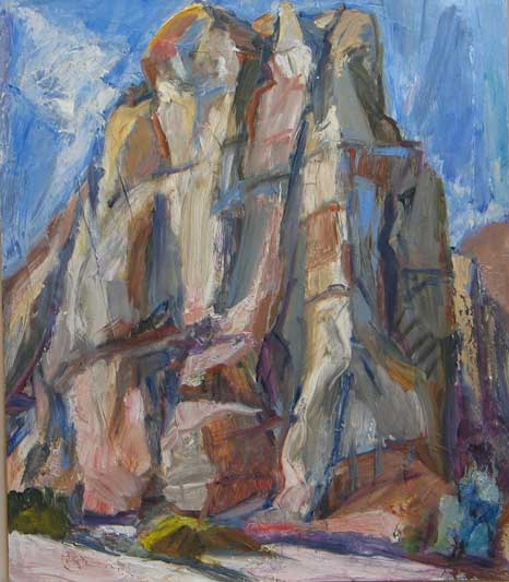 Jane Culp, Cathedral Rocks, oil, 24 × 20 inches (courtesy of the artist)