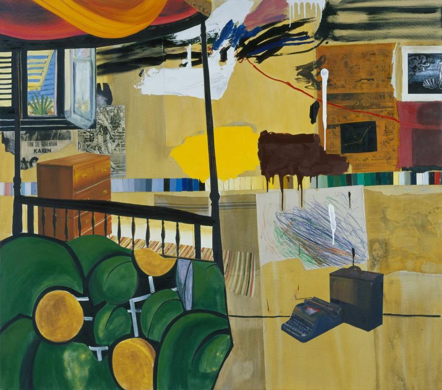 Dexter Dalwood, Burroughs in Tangiers, 2005, oil on canvas, 183.5 x 210 cm(© Dex