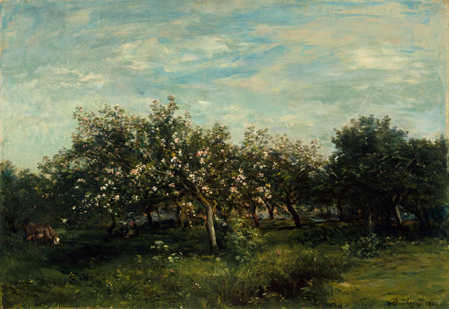 Charles François Daubigny, Apple Blossoms, 1873 (The Metropolitan Museum of Art, New York, Bequest of Collis P. Huntington, 1900 © The Metropolitan Museum of Art/Art Resource/Scala, Florence)