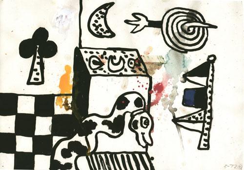 Alan Davie, Untitled drawing Opus 5-72-2, 1972, Gouache on paper © Alan Davie (c