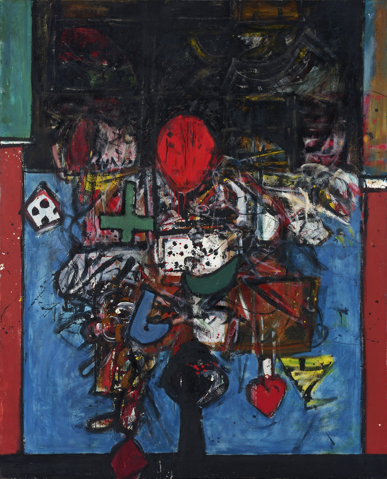 Alan Davie, Monk's Vision, 1958, oil on canvas, 213.5 x 173.5 cm (courtesy of Al