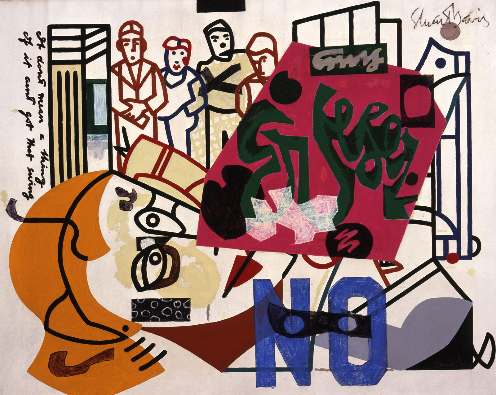 Stuart Davis, American Painting, 1932/1942–1954 (Estate of Stuart Davis/VAGA, New York/Joslyn Art Museum, Omaha)