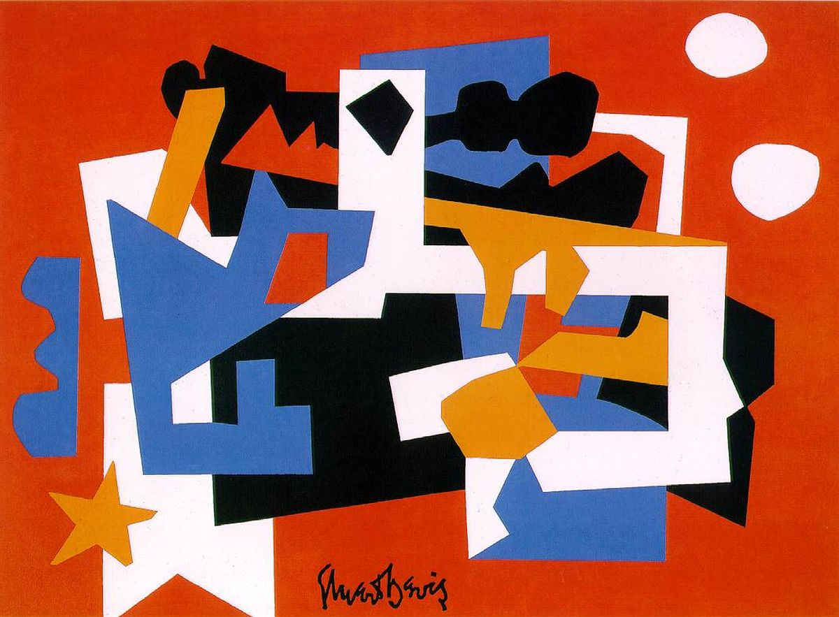 Stuart Davis, Colonial Cubism, 1954, oil on canvas (Whitney Museum of American Art)
