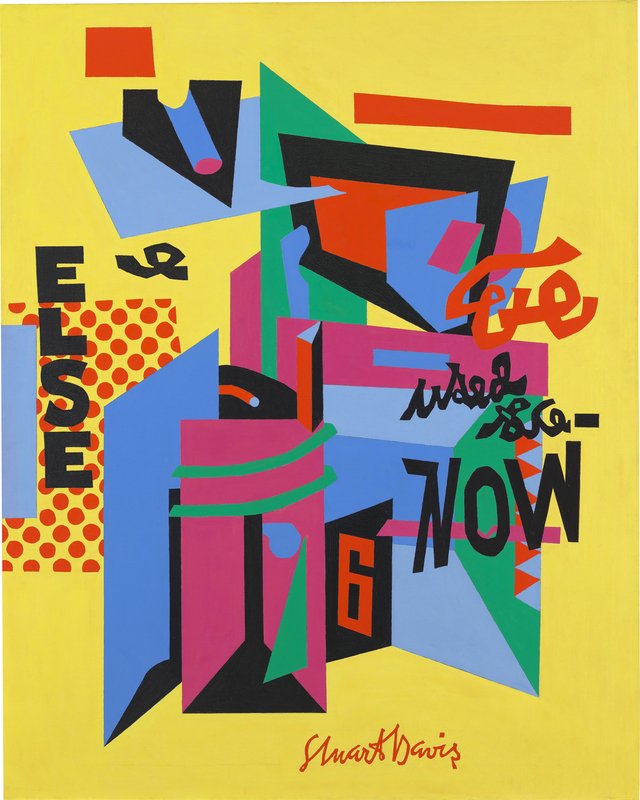 Stuart Davis, Owh! in San Pao, 1951, Whitney Museum of American Art, New York (©