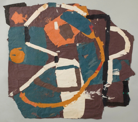 Francis Davison, Orange arc and spot in Turquoise Brown (F/G95), c.1977-80, colo