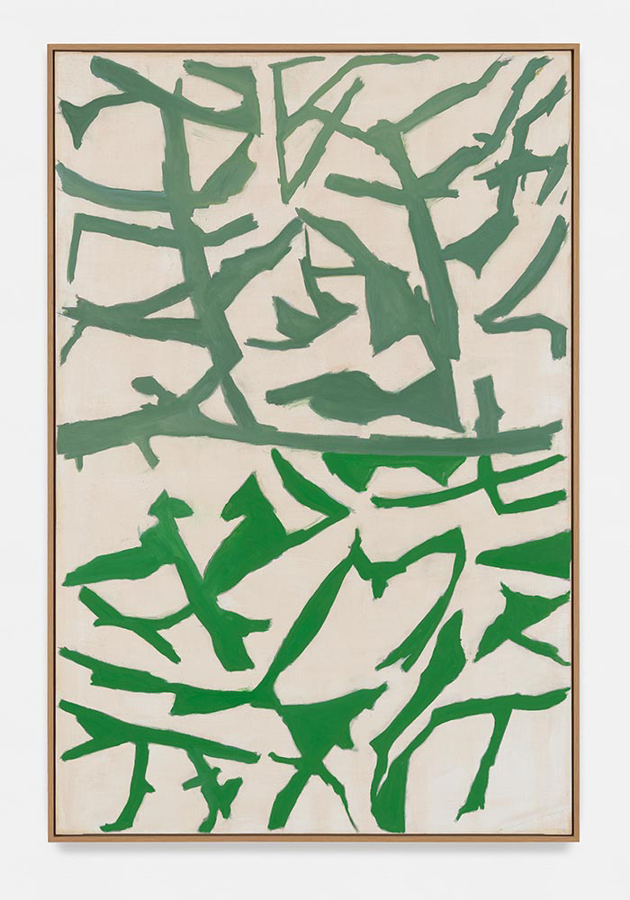 Raoul De Keyser, Retour 2, 1999, oil on canvas, 65 9/16 x 43 5/16 inches (courte