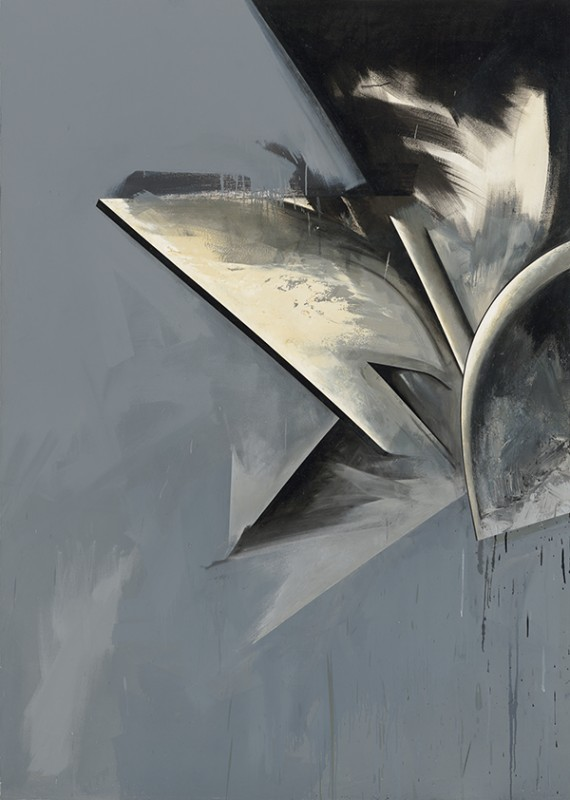 Jay DeFeo, Hawk Moon No. 1, 1983-85, oil on canvas, 84 x 60 inches (© 2015 The J