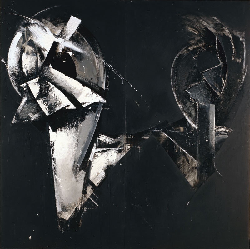 Jay DeFeo, Masquerade in Black (Loop System No. 4), 1975, Synthetic polymer and