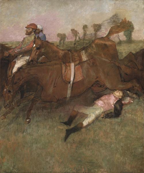 Edgar Degas, Scene from the Steeplechase: The Fallen Jockey, 1866, reworked 1880