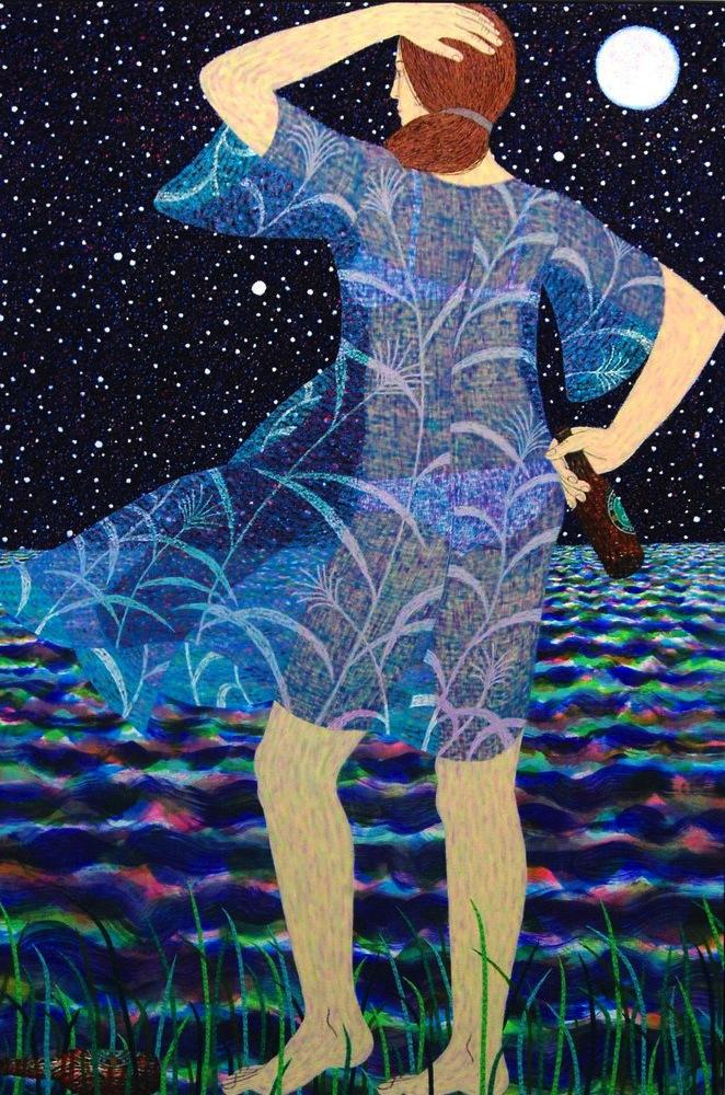 Benjamin Degen, Sea, 2013, oil on linen over panel, 72 x 48 inches (Susan Inglet