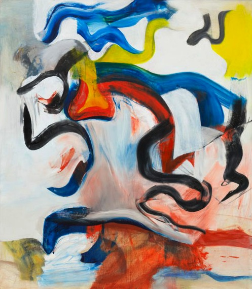"Willem de Kooning, Untitled V 1982, Oil on canvas, 6' 8"" x 70"", The Museum of Mo"