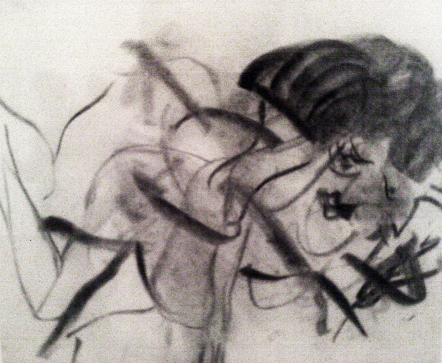 Willem de Kooning, Untitled, 1966, detail. Charcoal on paper, 10 x 8 inches (Mus