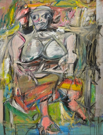 Willem De Kooning, Woman I, 1950–52, oil on canvas 6' 3 7/8 x 58 inches (The Mus