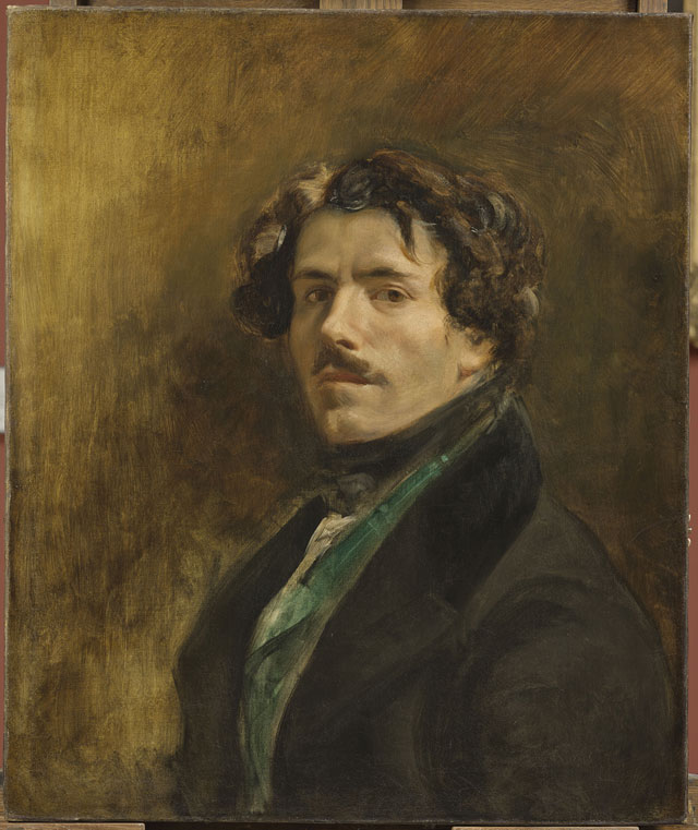 Eugène Delacroix, Self-Portrait with Green Vest, c. 1837, oil on canvas, 65 x 54 cm (Musée du Louvre, Paris © RMN-Grand Palais (musée du Louvre), Michel Urtado)