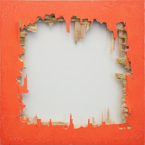 Matthew Deleget, High Value Target, 2014, fluorescent orange enamel spray paint