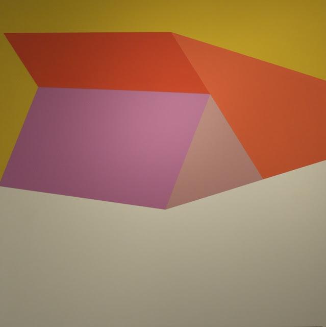 Esteban Delgado, Tectonic, 2013, acrylic and enamel on panel, 30 x 30 inches (co