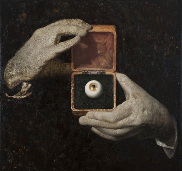Vincent Desiderio, Hitchcock's Hands, 2012, oil and mixed media on canvas, 64 x