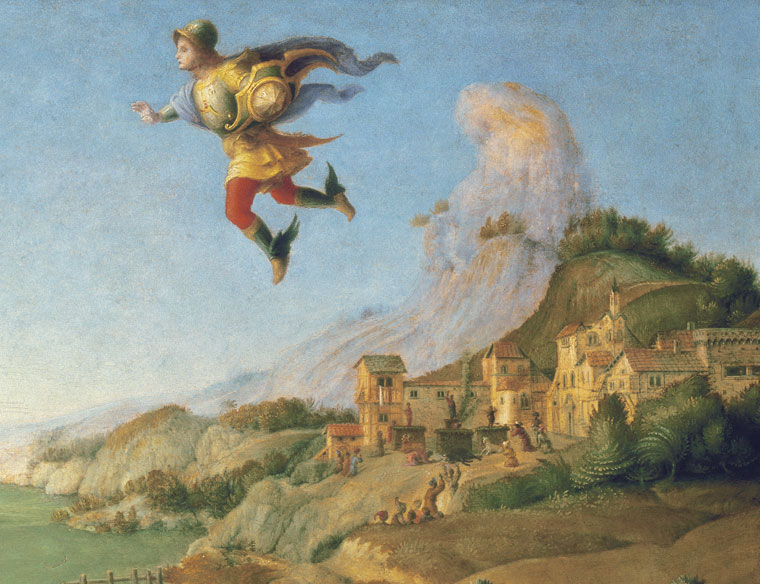 (detail) Piero di Cosimo, Liberation of Andromeda, c. 1510–1513, oil on panel (G