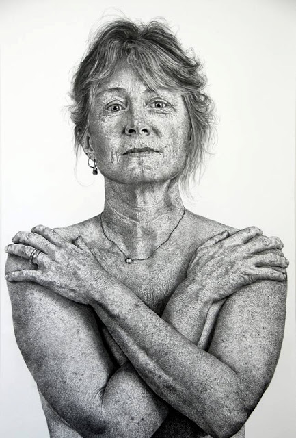 Ray DiCapua, Marie, charcoal on paper, 60 x 84 inches (courtesy of the artist)