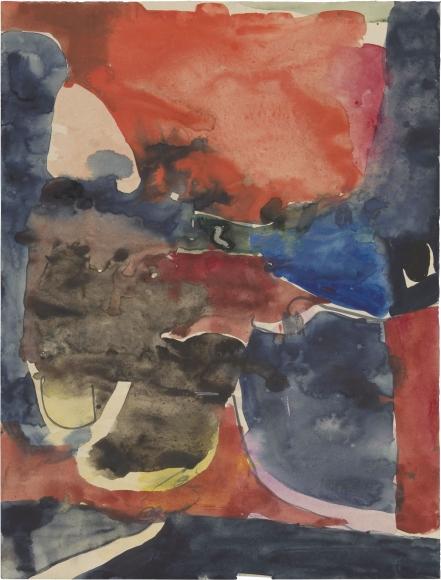 Richard Diebenkorn, Untitled, c. 1949-55, gouache and graphite on paper, 12 3/8