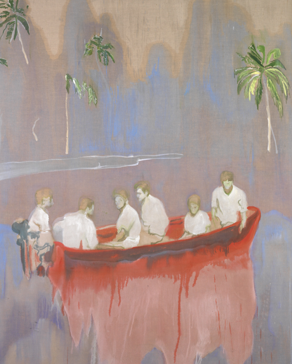 Peter Doig, Figures in a Red Boat (© and courtesy of the artist)