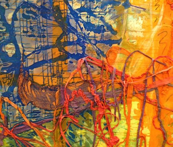 (detail) Dona Nelson, Orangey, 2013 (courtesy of Thomas Erben Gallery)