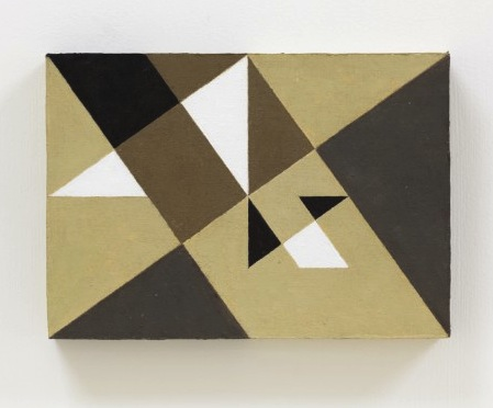Natalie Dower, Square Root 2 no 2, 2010, oil on canvas on wood, 17 x 24cm (image