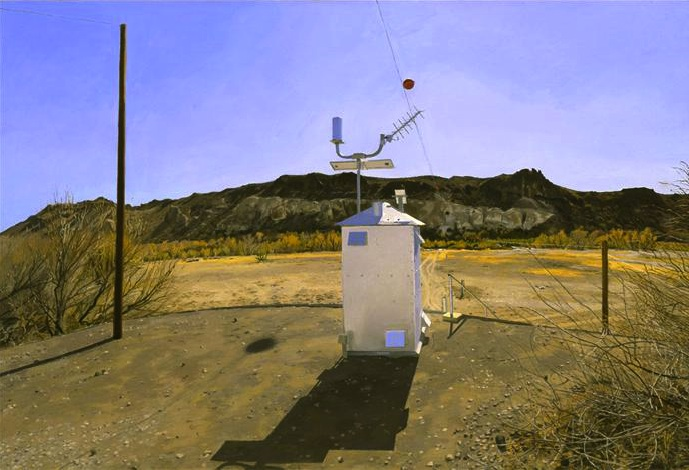 Rackstraw Downes, Water-Flow Monitoring Station on the Rio Grande Near Presidio,