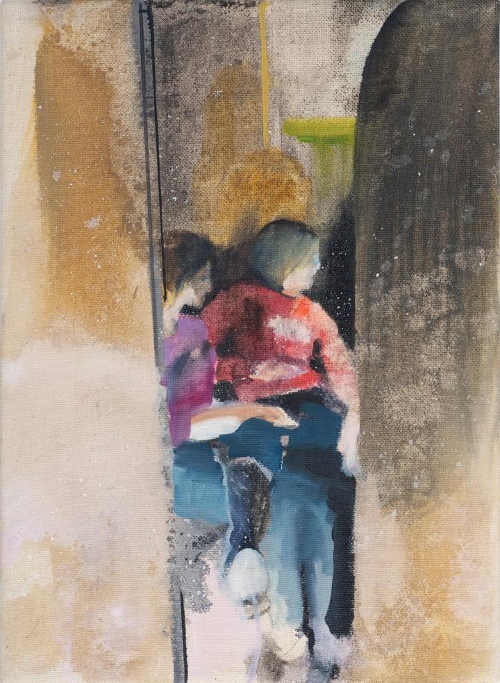 Kerstin Drechsel, If You Close the Door 89, 2008-2010, oil on canvas, 11.75 x 8.