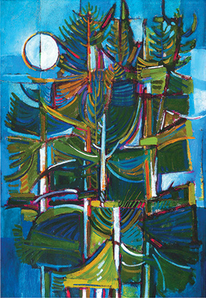 David Driskell, Pines at Falmouth, 1961, acrylic and magna on canvas, 50 x 34 inches (courtesy of David Driskell)