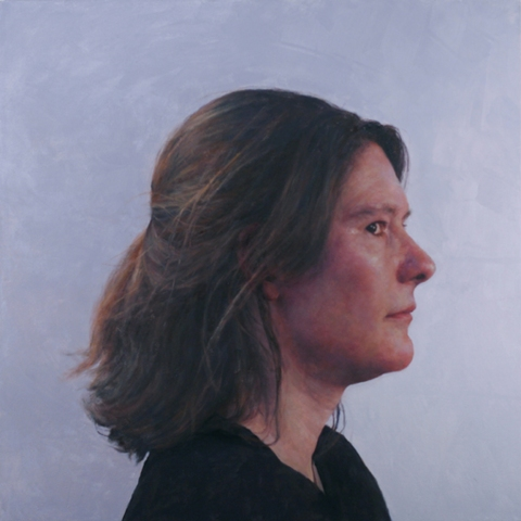 Jenny Dubnau, C.H., profile, 2012, oil on canvas, 36 x 36 (courtesy of the artist)