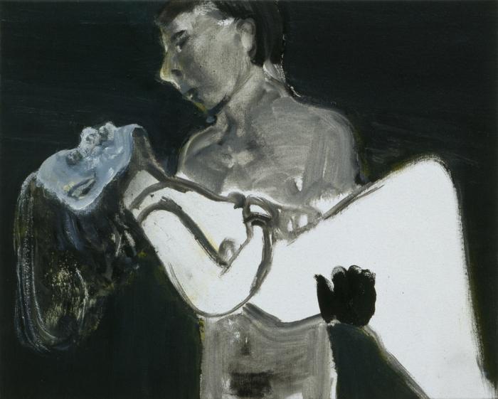Marlene Dumas, The Image as Burden, 1993, Oil on canvas, 40 x 50 cm. (Private co