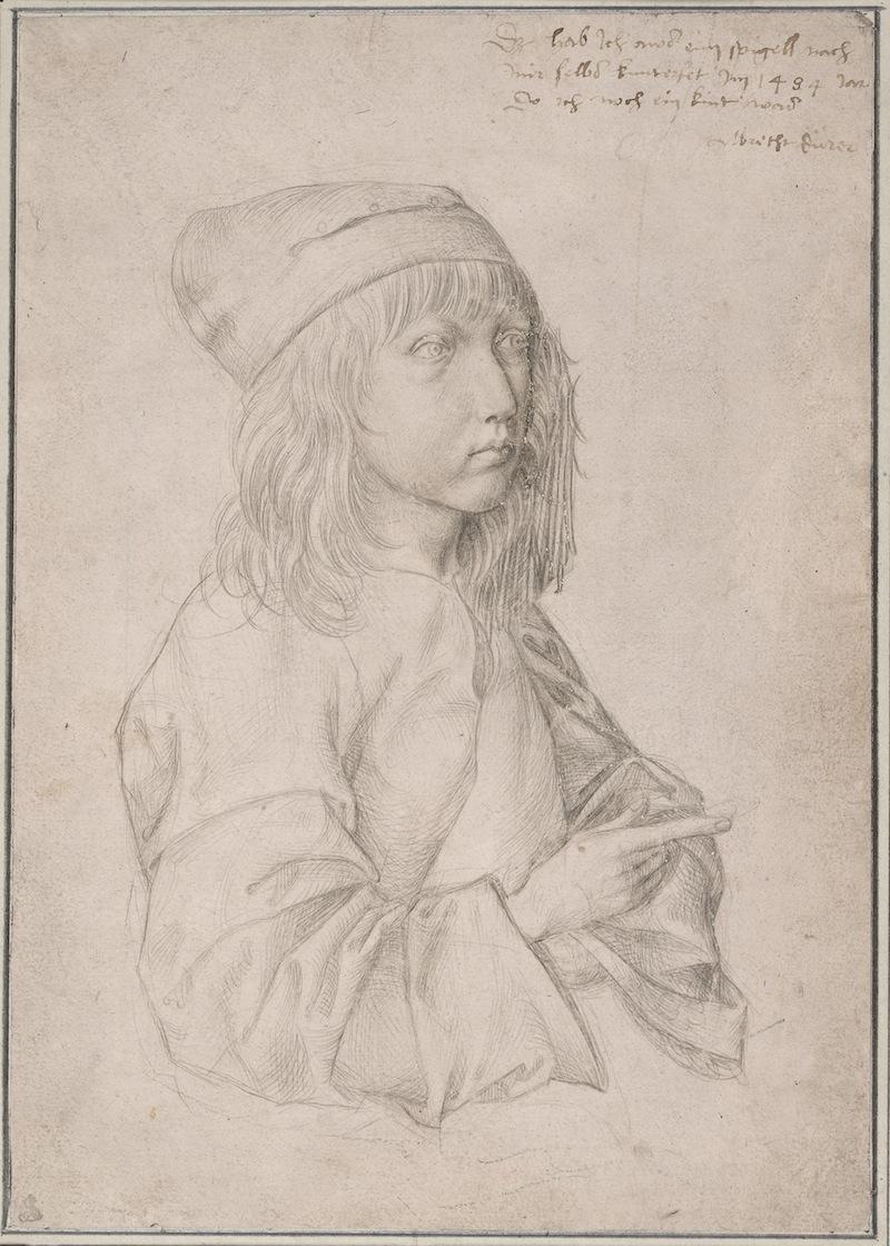 Albrecht Dürer, Self-Portrait (at age thirteen), 1484 (courtesy Albertina Museum