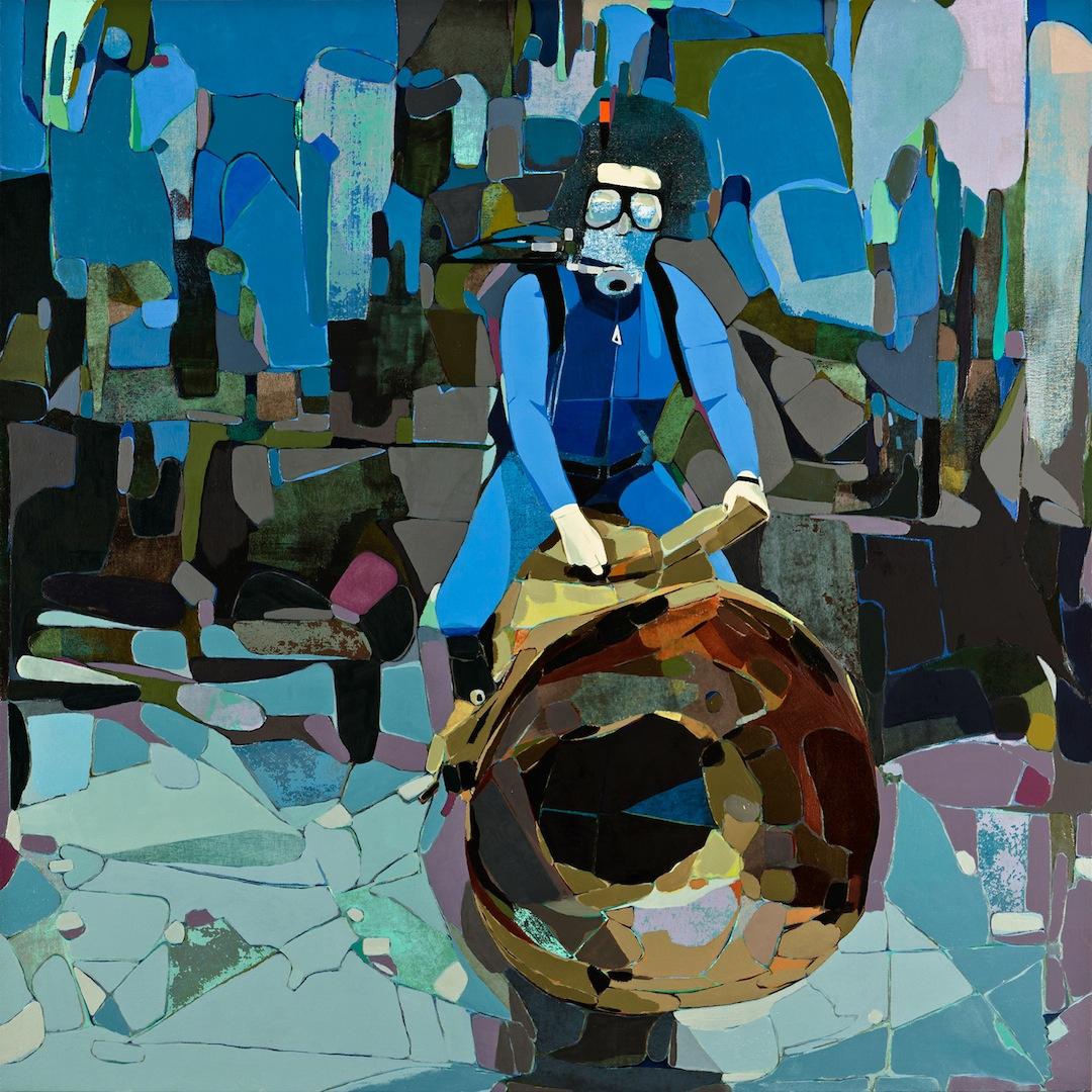 Brad Eberhard, Ascension, 2013, oil on masonite, 48 x 36 inches (courtesy of the