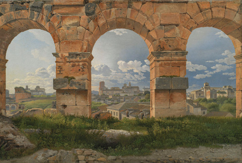 Christoffer Wilhelm Eckersberg, A View through Three Arches of the Colosseum, c.1815 (© Statens Museum for Kunst, Copenhagen)