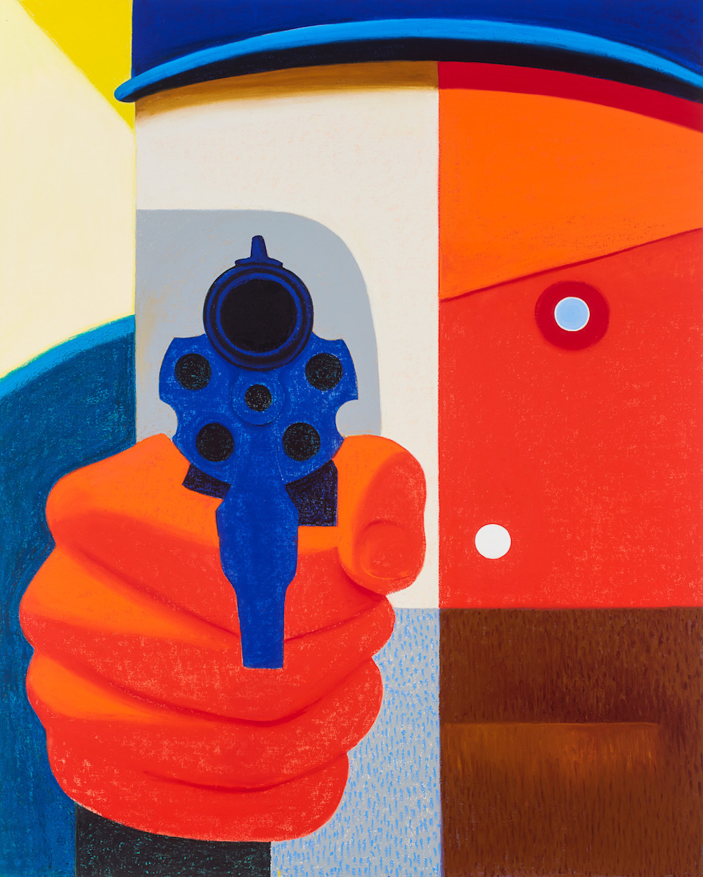 Nicole Eisenman, Shooter 2, 2016, oil on canvas, 82 x 65 inches (courtesy of the