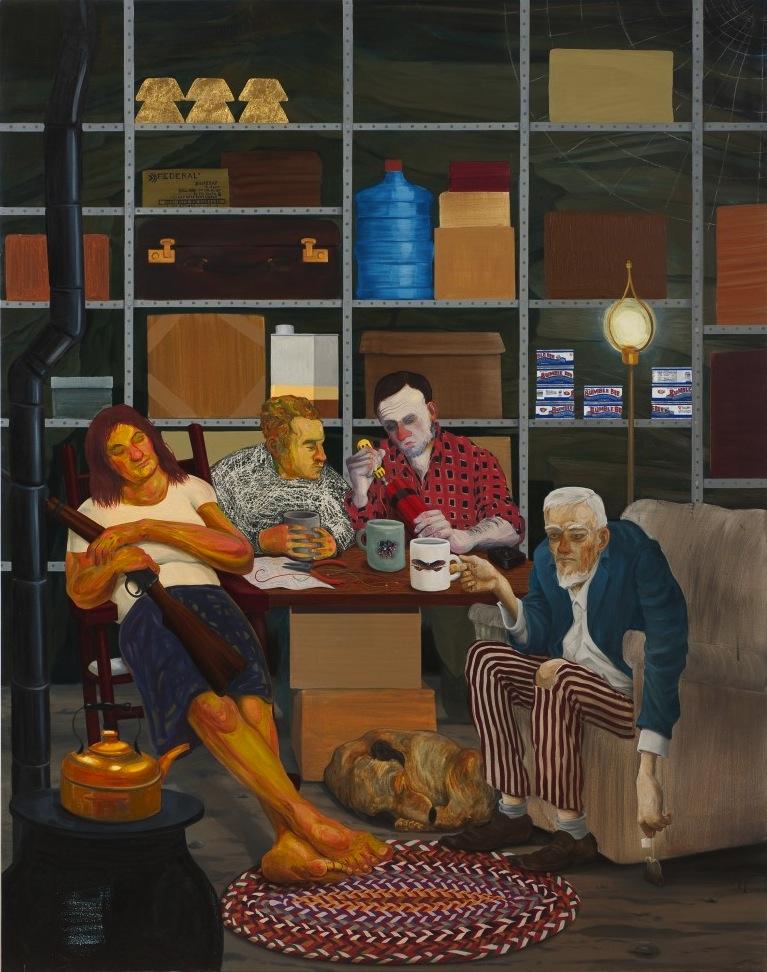 Nicole Eisenman, Tea Party, 2011, oil on canvas, 82 x 65 inches (courtesy of Sus