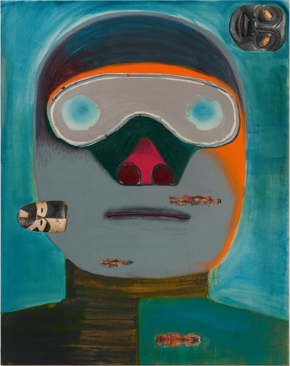 Nicole Eisenman, Guy Racer, 2011, oil on canvas, 76 x 60 inches (courtesy of the
