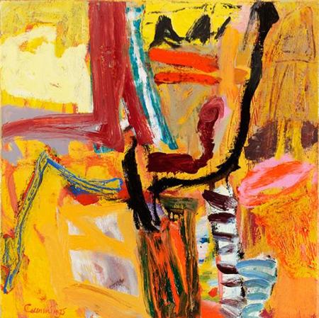 Elisabeth Cummings, Mostly Fine, 2011, Oil on canvas, 45 x 45cm (courtesy King S