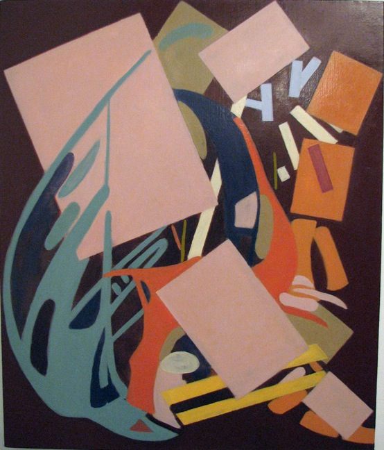 Elizabeth Hazan, Untitled (House of Cards), 2011, oil on canvas, 2011, 24 x 20