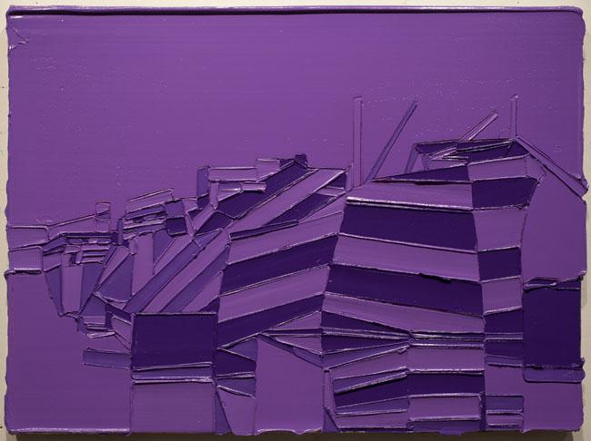 Stuart Elster, In Dazzle Purple, 17 x 23 inches, oil on canvas, 2012 (courtesy o